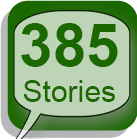 "story bubble with ""385 Stories"" in it"